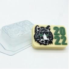 2022 Тигр Силуэты морды, форма для мыла