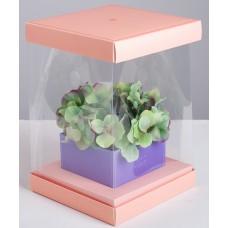 16 х 23 х 16 см короб аквариум для букетов с вазой
