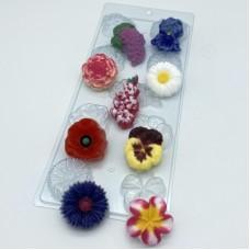 Цветочное ассорти 1, форма для мыла