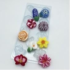 Цветочное ассорти 2, форма для мыла
