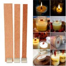 Деревянный фитиль 13*130 для свечей с держателем