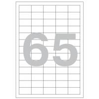 Этикетки самоклеящиеся 38x21.2 мм белые, 65 шт./лист