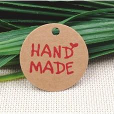 Бирки Handmade круглые
