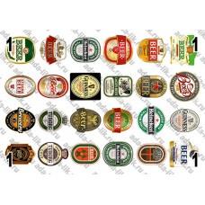 Этикетки Пиво, от 24 шт, не деленные