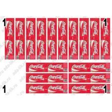Этикетки Кока-кола, coca-cola, не деленные