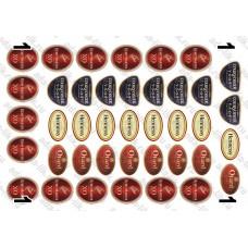 Этикетки Коньяк французский, ассорти, 40 шт, не деленные