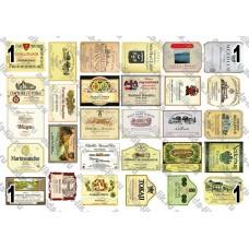 Этикетки Вино, ассорти, не деленные