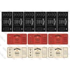 Этикетки для мыла Jack Daniels круговые, не деленные