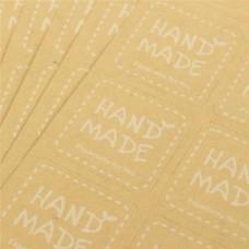 Наклейки HandMade белый, 1 л/12 шт, вырубные