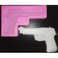 Пистолетик, форма силиконовая