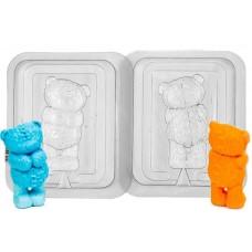Мишка 3D, форма для мыла