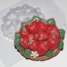 Корзина клубники, форма для мыла