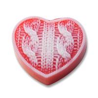 Сердце вязаное, форма для мыла силиконовая