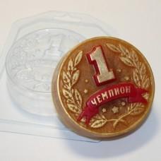 Медаль Чемпион, форма для мыла