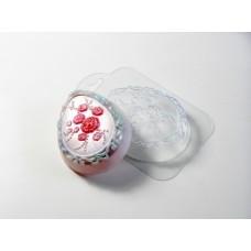 Яйцо с розочками, форма для мыла