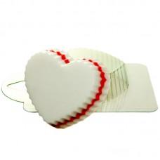 Сердце волнистое, форма для мыла