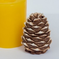 Сосновая шишка 3D, форма силиконовая
