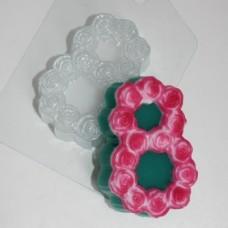 8 марта розы, форма для мыла