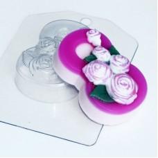 8 марта розы по диагонали, форма для мыла