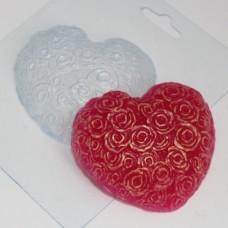 Сердце из роз, форма для мыла