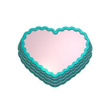 203 - Сердце основа, форма для мыла