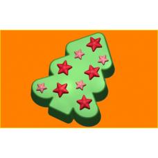 220 - Звёздная ёлка, форма для мыла