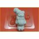 253 - Мишка на коньках, форма для мыла