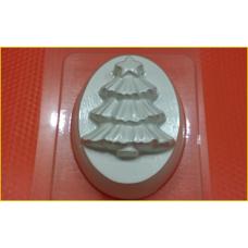 331 - Ёлка на овале, форма для мыла