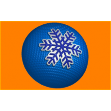 367 - Шар снежинка, форма для мыла