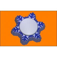 380 - Снежинка П/К, форма для мыла