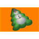 381 - Снеговик на ёлке, форма для мыла