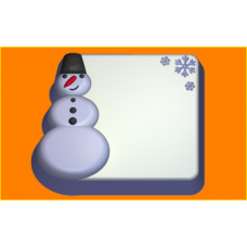 382 - Снеговик П/К, форма для мыла