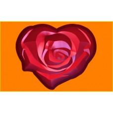 396 - Сердце роза, форма для мыла