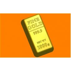 437 - Слиток золота, форма для мыла
