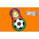 454 - Матрёшка Футбол, форма для мыла