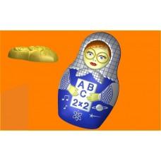 459 - Матрёшка Учитель, форма для мыла