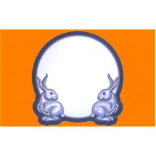 503 - Форма под картинку с зайцами, форма для мыла