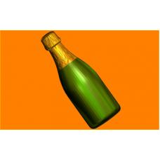 510 - Шампанское под картинку, форма для мыла
