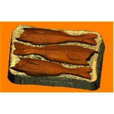 529 - Бутерброд со шпротами, форма для мыла