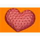 541 - Сердце в розах, форма для мыла