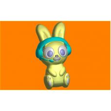 584 - Заяц меломан, форма для мыла