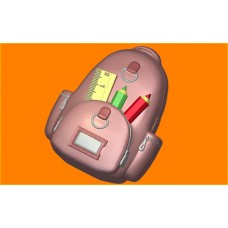 591 - Школьный рюкзак, форма для мыла