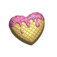 609 - Вкусное сердце, форма для мыла