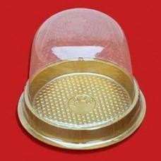 Купол прозрачный с золотой подложкой