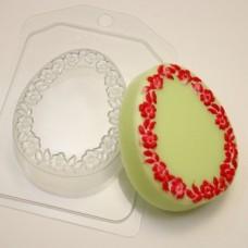 Яйцо плоское Цветочная рамка, форма для мыла