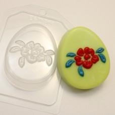 Яйцо плоское Крупный цветок, форма для мыла