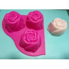 Роза сотовая, форма силиконовая