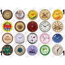 Часы для формы Круг (d=50mm), картинки для мыла