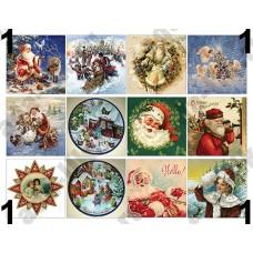 Новый Год, Рождество, винтаж, картинки для мыла