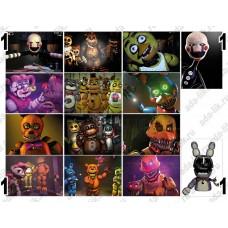 Аниматроники, 5 ночей с Фредди, FNAF, герои игр, картинки для мыла